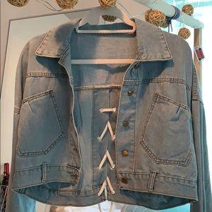 Unique denim jacket